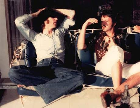 John Lennon and Paul McCartney, 1974