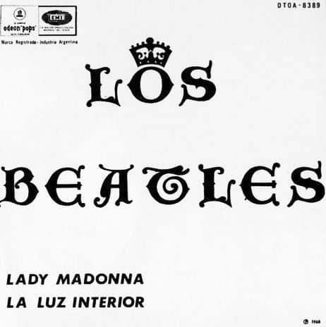 Lady Madonna single artwork - Argentina