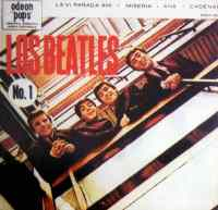 Los Beatles No 1 EP artwork - Argentina