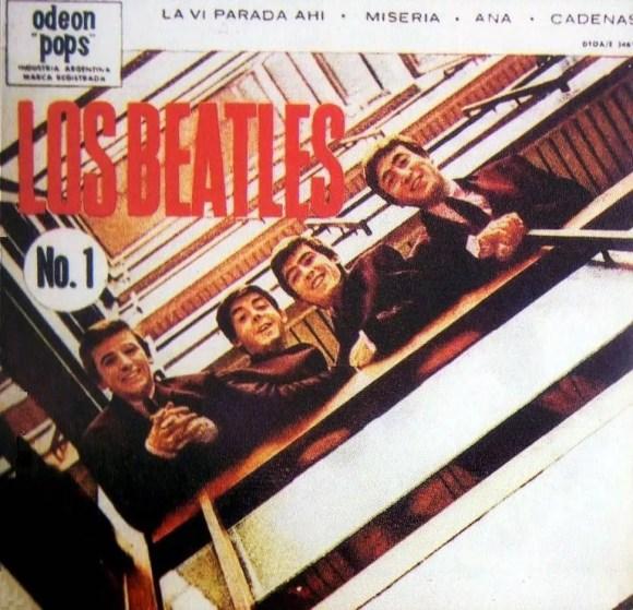 Los Beatles No 1 EP artwork - Argentina