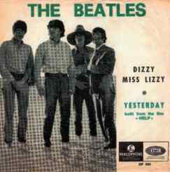 Dizzy Miss Lizzy single artwork - Belgium