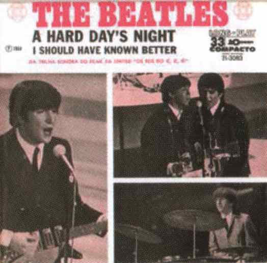 A Hard Day's Night single artwork - Brazil