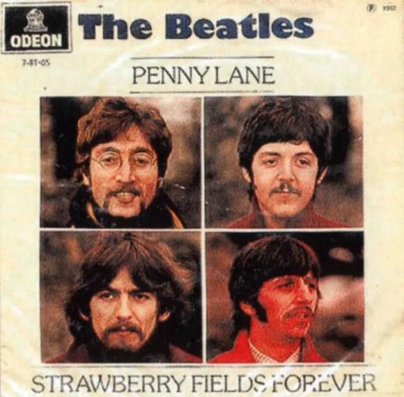 Penny Lane/Strawberry Fields Forever single artwork - Brazil