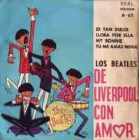 Los Beatles de Liverpool Con Amor EP - Chile
