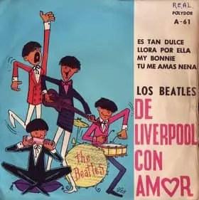 Los Beatles de Liverpool Con Amor EP - Chile