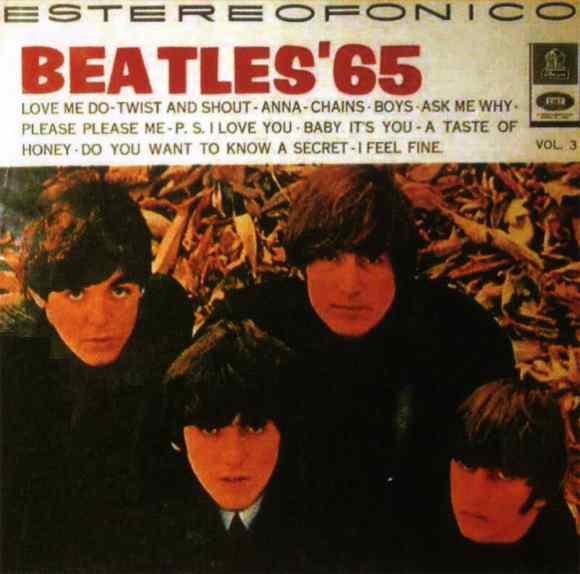 Beatles '65 Vol 3 album artwork - Colombia