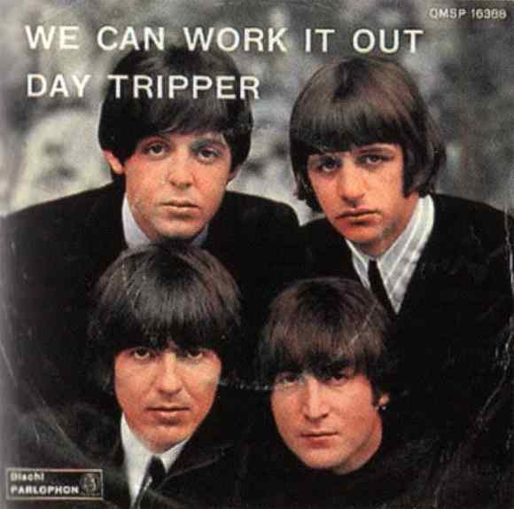 We Can Work It Out/Day Tripper single artwork - Italy
