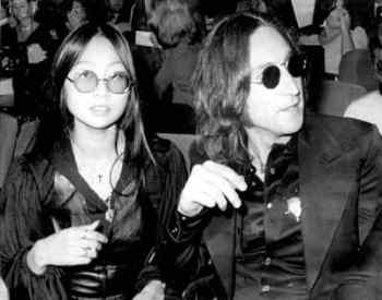 John Lennon and May Pang