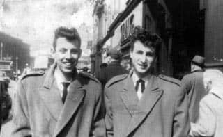 John Lennon and Nigel Whalley in Liverpool, 5 May 1958