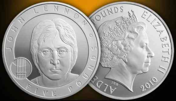 John Lennon commemorative £5 coin, 2010