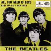 All You Need Is Love single artwork - Belgium, Netherlands