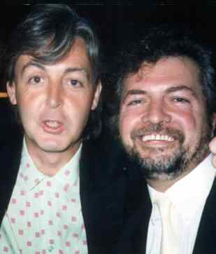 Paul McCartney with Mersey Beat founder Bill Harry