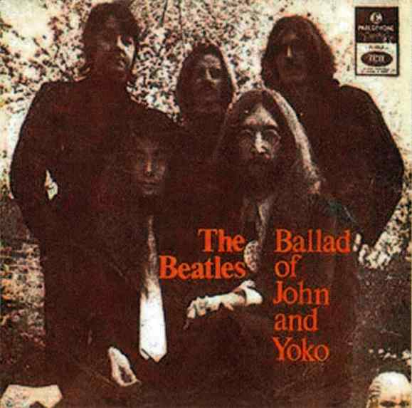 The Ballad Of John And Yoko single artwork - Portugal