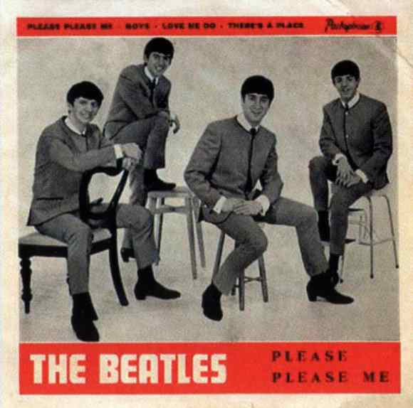 Please Please Me EP artwork - Portugal