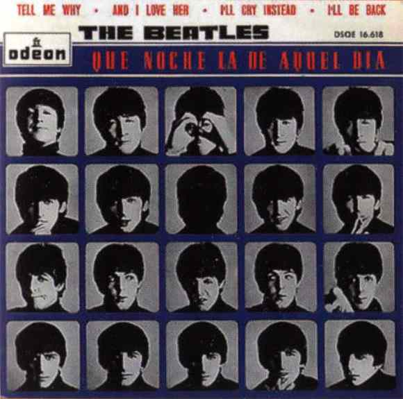 Que Noche La De Aquel Dia Vol 1 (A Hard Day's Night) EP artwork - Spain
