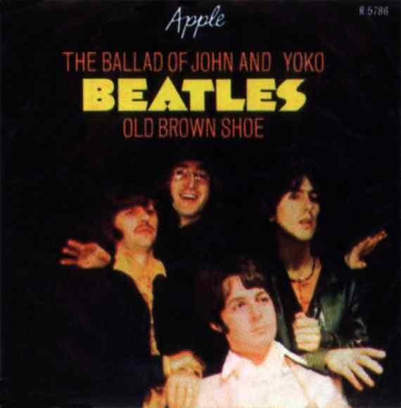 The Ballad Of John And Yoko single artwork - Denmark, Norway, Sweden