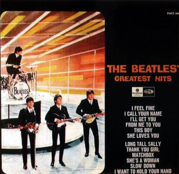 The Beatles' Greatest Hits album artwork - Sweden