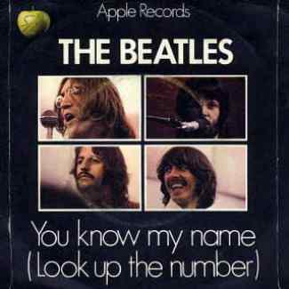 You Know My Name (Look Up The Number) single artwork - United Kingdom