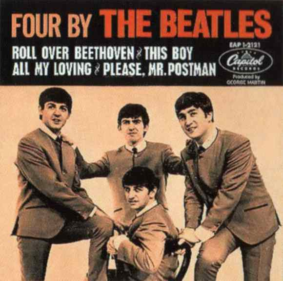 Four By The Beatles EP artwork - Canada, USA