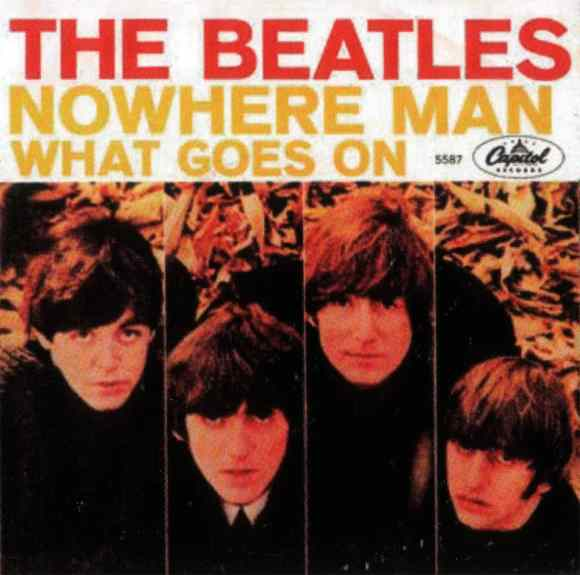 Nowhere Man single artwork - USA
