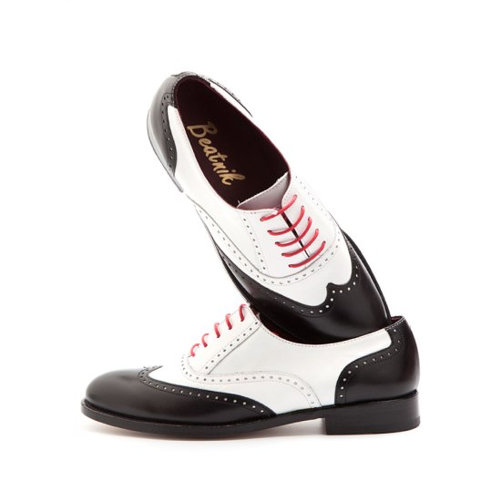 Oxford Black & white by Beatnik Shoes