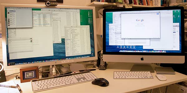 Mac Pro and iMac running side by side