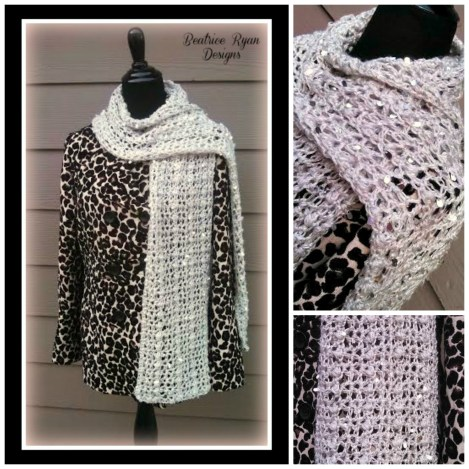 Northern Nights Scarf Free Crochet Pattern