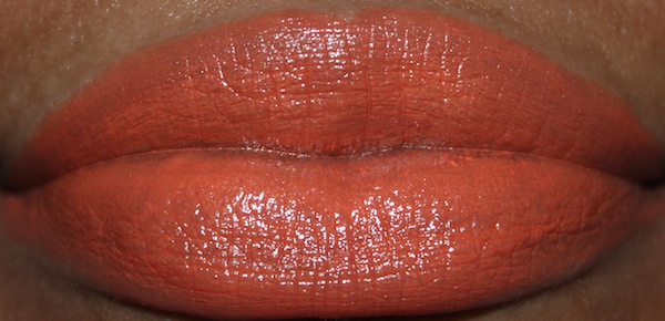 MAC tart and trendy lip swatch flash MAC All About Orange Swatches