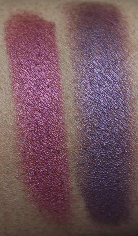 mac crimson tryst and brazenly eyeshadow MAC Nudes & Metallics Swatches