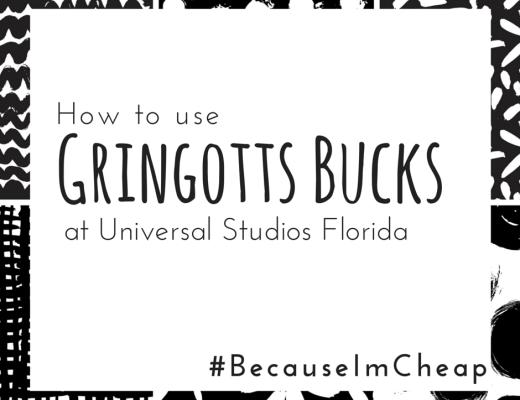 gringotts bucks universal studios