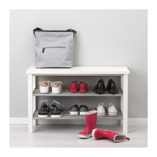Optimiser le rangement des chaussures bee organis e - Banc avec rangement chaussures ...