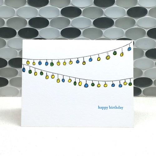 Lantern Birthday Card