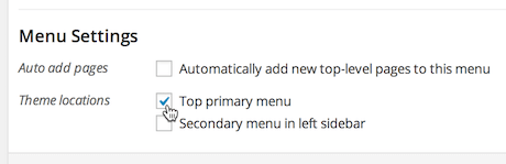 Assign menu