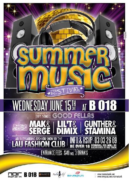 Summer Music Festival At B018