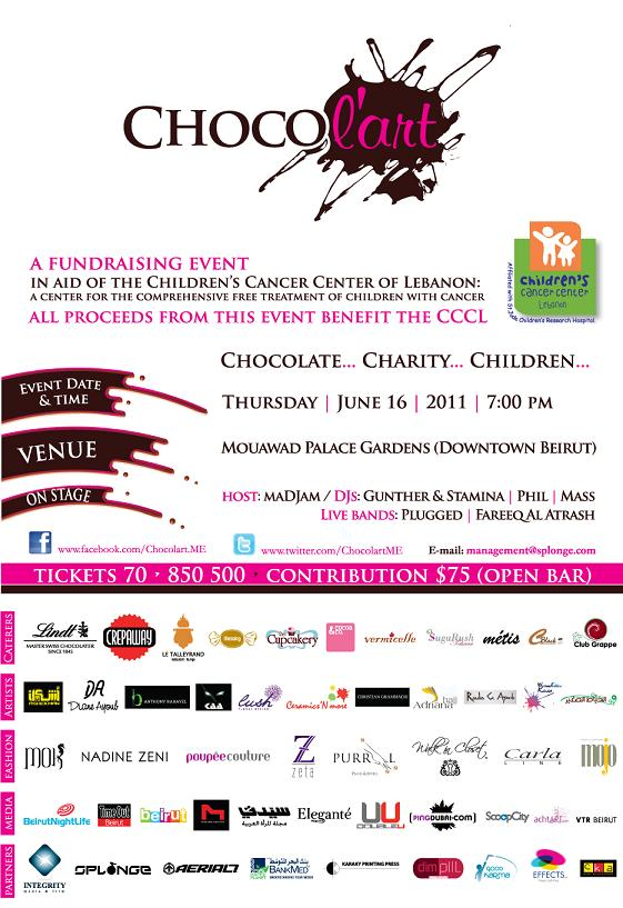 Chocol'art Charity Event  In Aid Of The Children's Cancer Center Of Lebanon