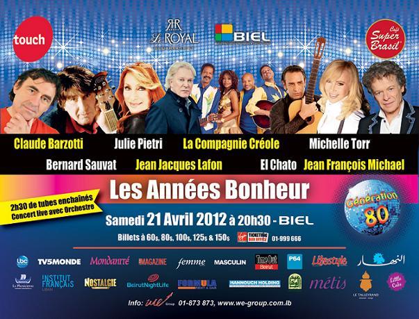 Les Années Bonheur 2012