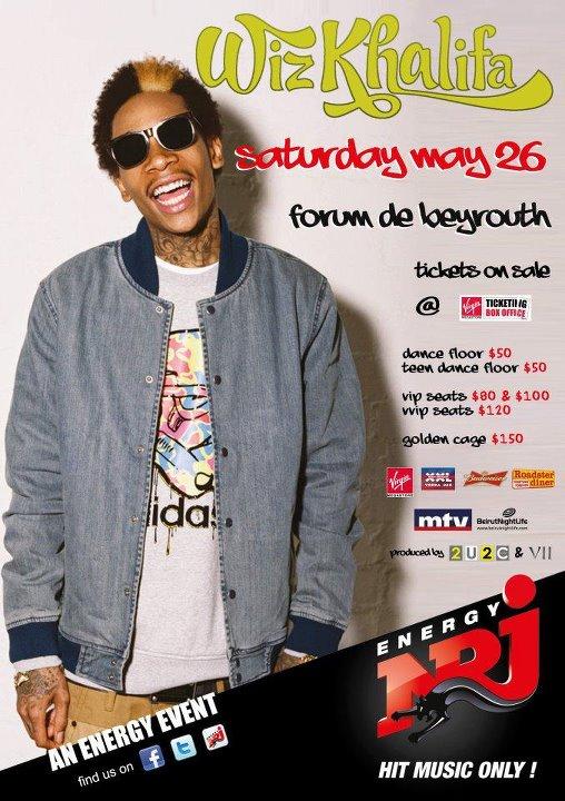 Win Free Tickets to See Wiz Khalifa Live in Lebanon!