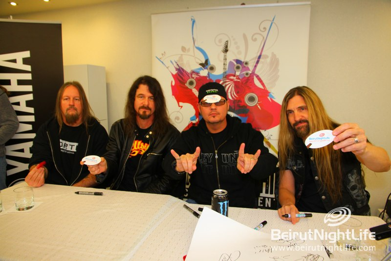 A Press Conference Full of Metal Heads…Hail Comes to Lebanon