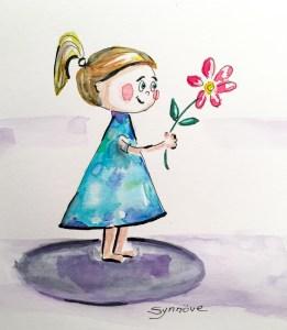 Desenho menina Synnove