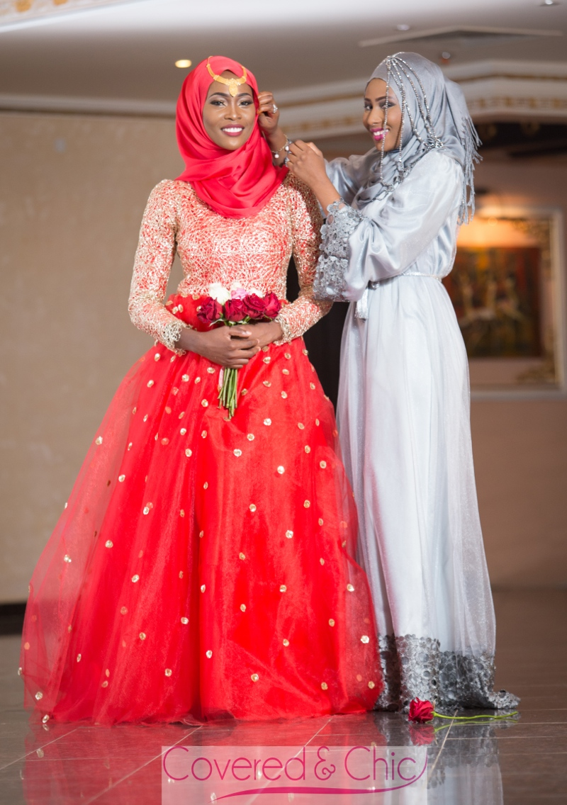bn bridal muslim bridal dresses by covered chic muslim wedding dress Covered Chic Muslimah Bridal Wedding Dresses December BellaNaija