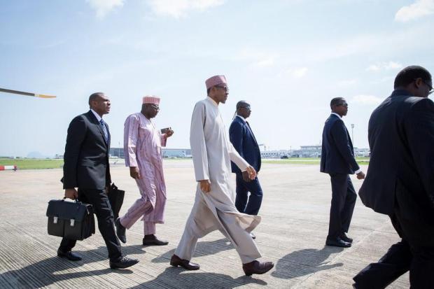 President Buhari Departs for London1