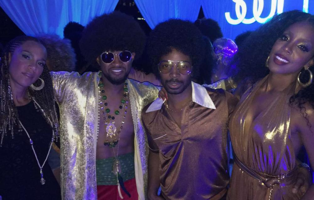 Image result for Photos from Beyonce's 35th birthday Soul Train themed party