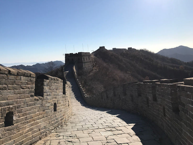 Scenes from the Great wall of China outside of Beijing
