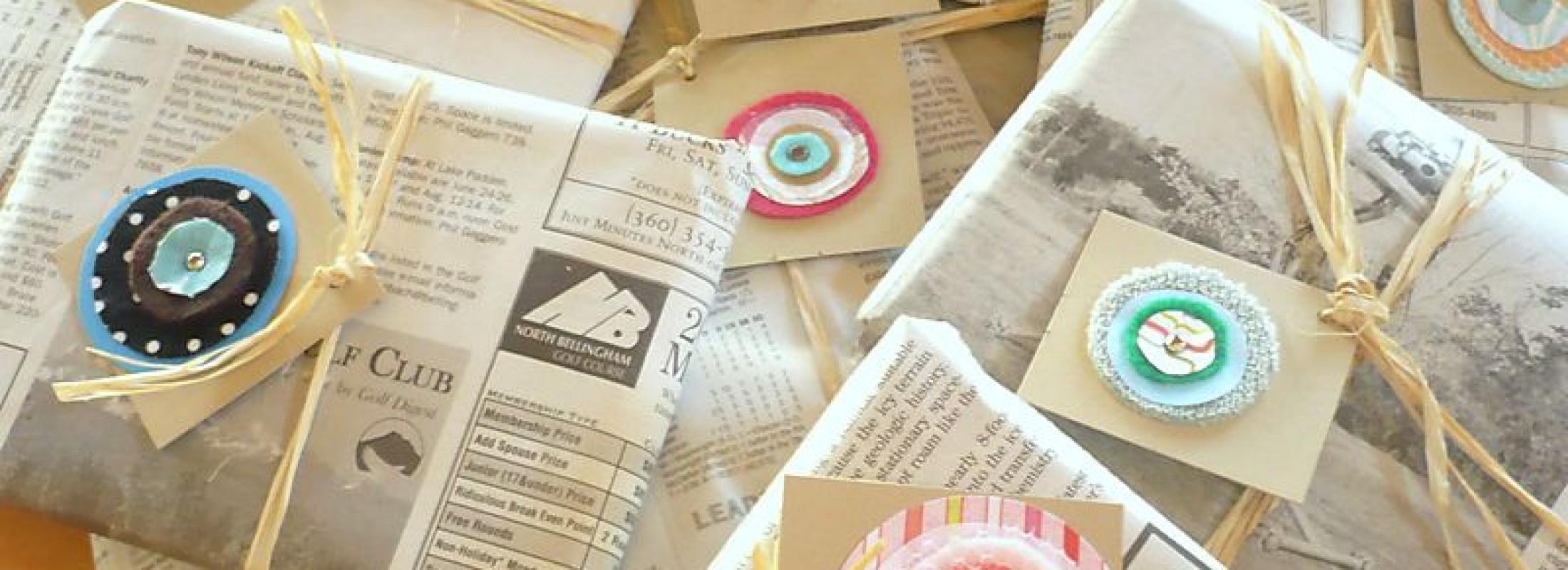 Distinctive Newspapers Used As Gift Tags Turn Newspapers Into Gift Packaging Gift Packaging Videos Gift Packaging Mooresboro Nc gifts Creative Gift Packaging