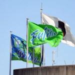 フジタ、ベルマーレ平塚、湘南ベルマーレの旗が