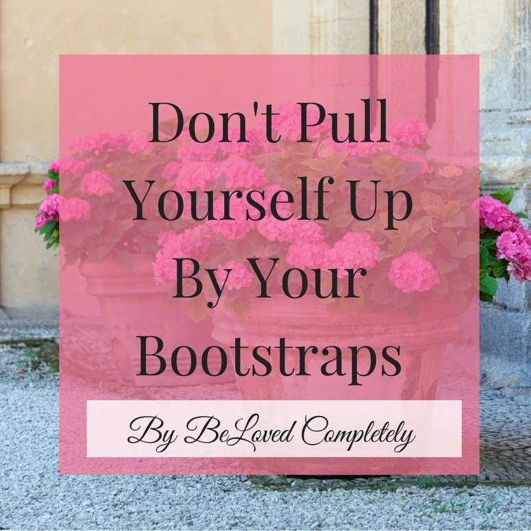 Don't Pull Yourself Up By Yourself By Your Bootstraps