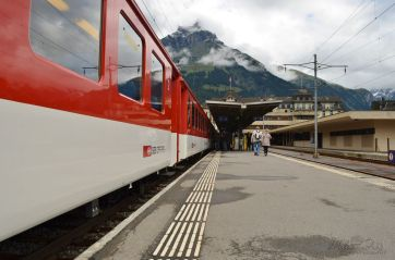Arriving in the resort town of Engelberg
