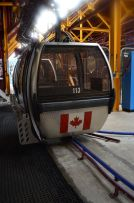 The cablecars were labled wiht countrys all over the world.. ironically we got CANADA