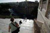 Many stairs on Capitoline Hill
