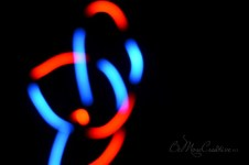 Playing with glowsticks at the hotel